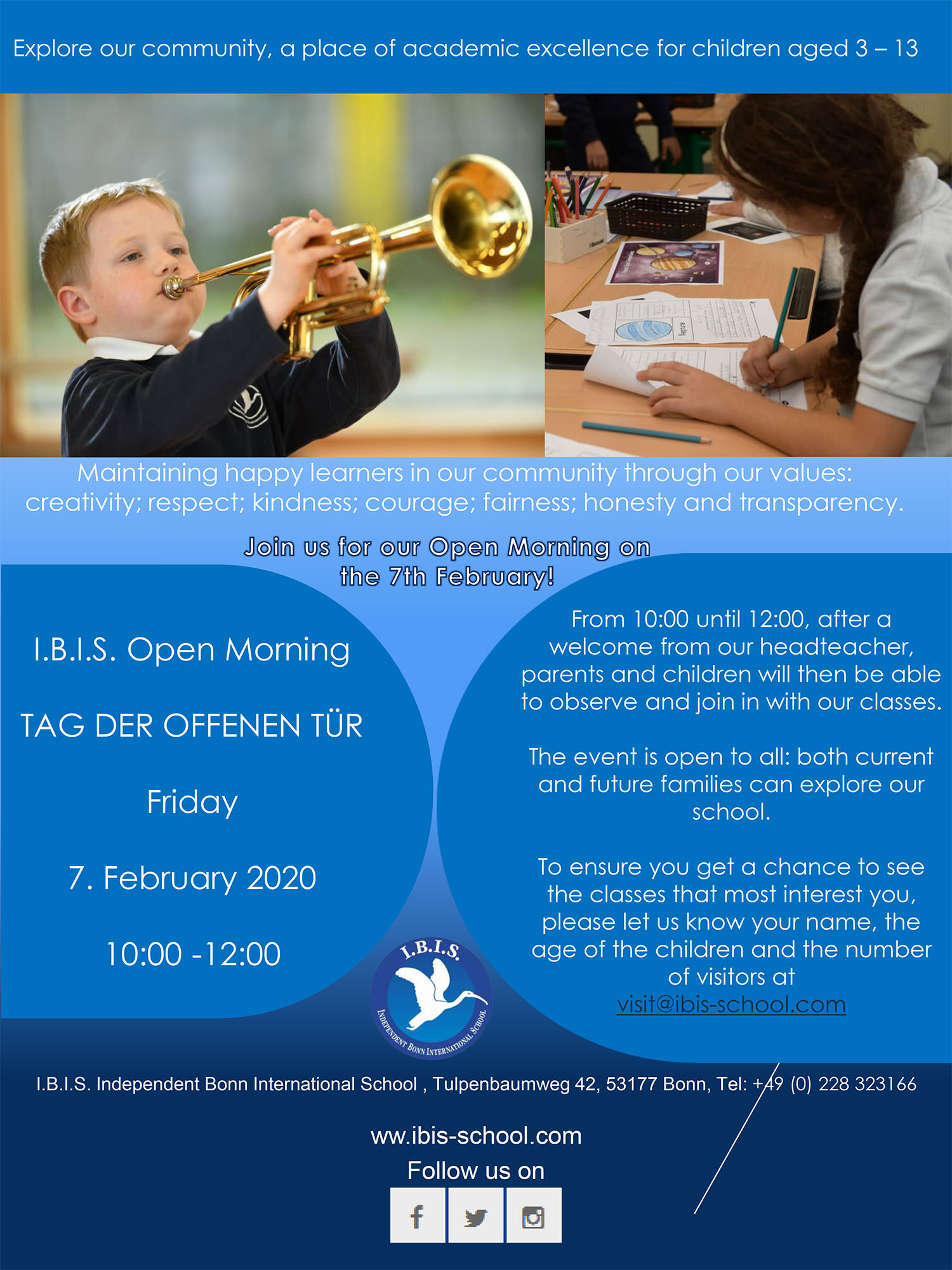 IBIS Open Morning 2020 Poster